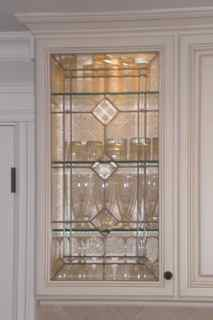 Rebuilt Stained Glass Window, New Leaded Glass Kitchen Cabinet Doors